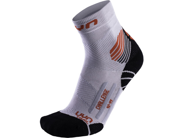 UYN Run Trail Challenge Sokken Heren, pearl grey/red